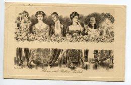 """ILLUSTRATEUR 0146 Diner Mondain Jeux De Pieds Sous La Table """"above And Below Board """"  1907     Pictorial Comedy  127 - 1900-1949"""