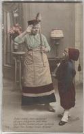 CPA - FANTAISIE PATRIOTIQUE - Femme Avec Enfant Déguisé En Zouave - Patriotiques