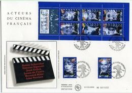 Bo293 Grande Enveloppe Les Acteurs Du Cinéma Bande Carnet 03/10/1998 - FDC