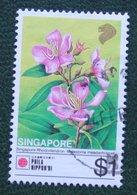 $1 PhilaNippon Flower Fleur Blumen 1991 Mi 644 Used Gebruikt Oblitere SINGAPORE SINGAPUR - Singapur (1959-...)