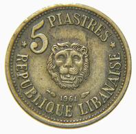 [NC] LIBANO - 5 PIASTRES 1961 (nc3995) - Liban