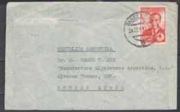 Spagna 1948 Unif. A232 On Cover Da Barcelona A Buenos Aires 23/09/48 VF/FR - 1931-Oggi: 2. Rep. - ... Juan Carlos I