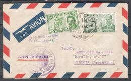 Spagna 1948 Unif. A229 On Cover Da Madrid A Mendoza VF/FR - 1931-Oggi: 2. Rep. - ... Juan Carlos I