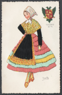 Spagna 1955 Unif. 862 On Post Card Costum Toledo VF/F - 1931-Oggi: 2. Rep. - ... Juan Carlos I