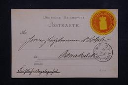 ALLEMAGNE - Carte De Correspondance En Poste Privée De Detmold En 1890 , Voir Vignette - L 23009 - Private
