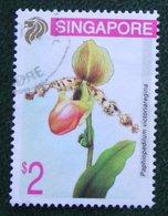 $2 Flower Fleur Blumen Orchid 1994 Mi 718 Used Gebruikt Oblitere SINGAPORE SINGAPUR - Singapur (1959-...)