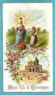 Santini: MARIA SS. DI CARAVAGGIO  - SANTUARIO - E - PR - Mm. 69 X 124 - CROMOLITOGRAFIA - Religion & Esotericism