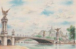 Barré & Dayez. Signé DESMARAIS. PARIS (75001) Le Pont Alexendre III Et Le Grand Palais. N° 2334 H - Ponts