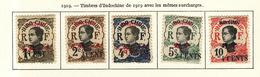 Mong-Tzeu 1919 Y&T N°51 à 55 - Michel N°67 à 71 * - Annamite - Mong-tzeu (1906-1922)