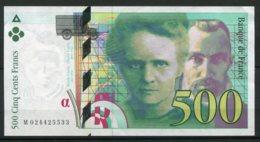 11270  FRANCE  Billet De 500 Francs : Pierre Et Marie Curie  1994  TTB - 1992-2000 Dernière Gamme