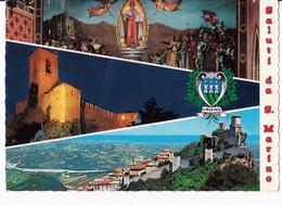 CARTOLINA SALUTI DA REP. DI SAN MARINO - TRE VEDUTE - 1970 - Saluti Da.../ Gruss Aus...