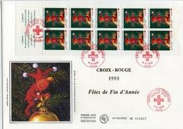 Bo295 Grande Enveloppe Croix-Rouge.Carnet PARIS 05/11/1998 - FDC