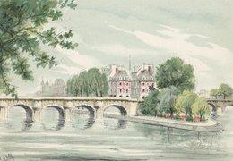 Barré & Dayez. Signé D'ESBLY. PARIS (75001) Le Pont-Neuf Et Le Vert Galant. N° 2359 M - Ponts