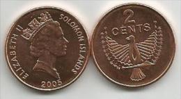 Solomon Islands 2 Cents  2005. High Grade - Islas Salomón