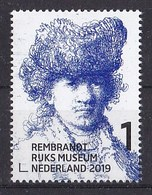 Nederland - 15 Februari 2019 - Rembrandt In Het Rijksmuseum - Zelfportret Met Bontmuts - Ca 1630 - MNH - Period 2013-... (Willem-Alexander)