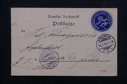 ALLEMAGNE - Carte De Correspondance En Poste Privée De Staufen Pour Chaux De Fonds En 1898 - L 23015 - Private
