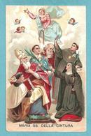 MARIA SS. DELLA CINTURA Con Santi  - E - PR - Mm. 70 X 110 - Religione & Esoterismo