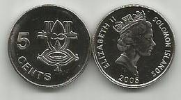 Solomon Islands 5 Cents 2005. HIgh Grade - Salomonen