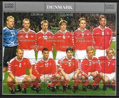 TURKMENISTAN  Feuillet  ( Danemark )   * *   Euro 2000 Football Soccer Fussball - Championnat D'Europe (UEFA)