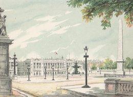 Barré & Dayez. Signé D'ESBLY. PARIS (75008) La Place De La Concorde. Obélisque Sur La Droite N° 2359 K - Places, Squares
