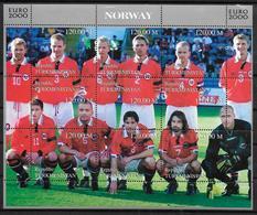TURKMENISTAN  Feuillet  ( Norvege )   * *   Euro 2000 Football Soccer Fussball - Championnat D'Europe (UEFA)