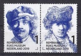 Nederland - 15 Februari 2019 - Rembrandt In Het Rijksmuseum - Zelfportret Met Pet/bontmuts - Ca 1634/1630 - MNH - Paar - Period 2013-... (Willem-Alexander)