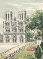 Barré & Dayez. Signé D'ESBLY. PARIS (75004) Notre-Dame, A Droite  Statue équestre De Charlemagne. N° 2359 D - Notre Dame De Paris