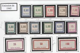 France Fictifs Série 47 A 60 Sans Charniére ** Sauf 59 Et 60 Charniére Infime - Phantomausgaben