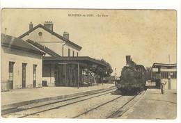 Carte Postale Ancienne Montier En Der - La Gare - Train, Chemin De Fer - Montier-en-Der