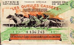 France - 63 - Les Gueules Casées 1939 Grand Prix De Paris - Billets De Loterie