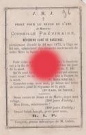 Abbé Corneille PREVINAIRE Curé De BASSENGE Dcd En 1875 - Décès