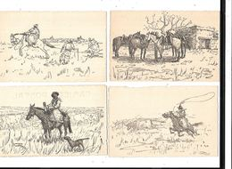 11094 - Lot De 5 CPA URUGUAY, Illustrateur, Dessin, - Uruguay