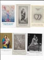 Lot De 6 Images Pieuses - Religion & Esotérisme