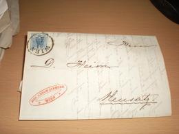 K K Post Stempel 9 Kreuzer Wien To Neusatz Novi Sad Ujvidek 1857 Niederlage Spiegel Glas Fabriken  Jon Anton Ziegler - Autriche