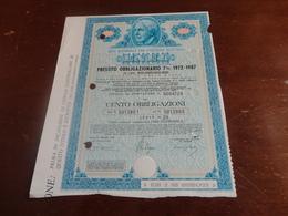 PRESTITO 100 OBBLIGAZIONI ENEL-1972 - Elettricità & Gas