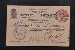 FINLANDE - Entier Postal De Helsinki Pour Paris En 1889 ( Administration Russe ) - L 23025 - 1856-1917 Administration Russe