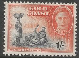Gold Coast. 1948 KGVI. 1/- MH. SG 143 - Gold Coast (...-1957)