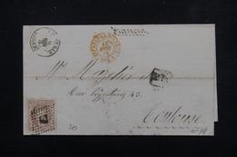 ESPAGNE - Lettre Pour La France ( Toulouse ) En 1871 , Affranchissement Plaisant - L 23027 - Cartas