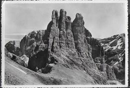 DOLOMITI - TORRI DEL VAJOLET - EDIZ. SCILARIA - VIAGGIATA DA VIGO DI FASSA 06.07.1956 - Alpinisme