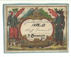 """2630 """"FACOLTA' DI GIURISPRUDENZA-1868/69 - ORLUFFI GIOVANNI - P. CANONICO-ANNO 3° """" CART. POST. ORIG. SPEDITA - Programmi"""