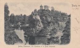¤¤  -  PARIS  -  Carte Gauffrée Des Buttes Chaumont - La Lanterne Et Le Pont Suspendu En 1901  -  ¤¤ - Arrondissement: 19