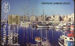 Paco \ GRECIA \ Chip OTE X0310 C1 \ Port Of Zeas, Piraeus \ Usata - Greece