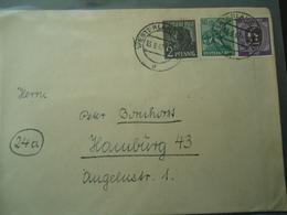 GERMANY OLD COVER  1947  POSTMARK WESTERLAND - Deutschland