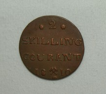 Norway/Norwegen Frederik VI, 1810, 2 Skilling Courant Funz/AU - Norvège
