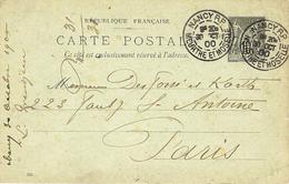1900- C P E P  10 C Sage Oblit. Daguin Horaire  De  NANCY - Annullamenti Meccaniche (Varie)