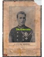 GRAND IMAGE LETTRE MORTUAIRE AVIS DE DECES OVERLIJDINGSBERICHT BOUDEWIJN 1869 - 1891 BAUDOUIN - Décès