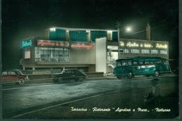 CARTOLINA - CV696 TERRACINA (Latina LT) Ristorante Agostino A Mare, Notturno, FG, Viaggiata 1961, Ottime Condizioni - Latina