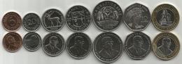 Mauritius 2000-2012. High Grade Set Of 7 Coins - Maurice