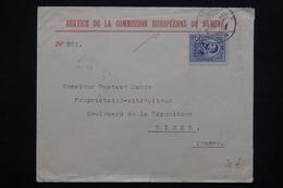 ROUMANIE - Enveloppe Du Service De La Commission Européenne Du Danube Pour La France - L 23033 - 1881-1918: Charles I