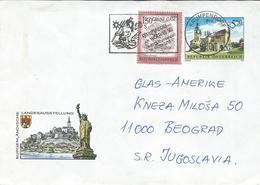 Austria 1992 Stamped Stationery Cover Via Yugoslavia 1994,ATM Motive : Mermaid - Stamped Stationery